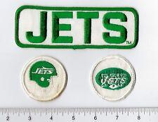 Lot 3 Vintage 1980s New York Jets Patch: Rectangle / Throwback Helmet / Old Logo