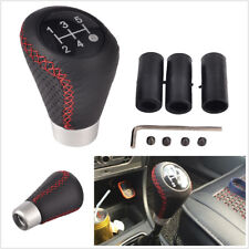 5 Speed Leather Red Stitch Universal Manual Car Gear Stick Shift Knob Shifter
