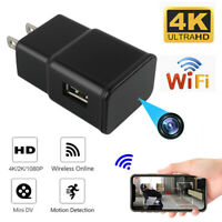 HD 1080P WiFi Recorder USB Wall Charger Mini Motion Camera Power Adapter US Plug