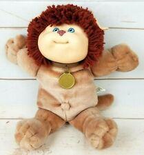 Vintage Cabbage Patch Kids Koosas 1983 Plush Lion Cat Blue Eyes Collar Red Hair