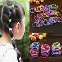 100 Pcs Baby Kids Girl Elastic Hair Bands Ponytail Holder Head Rope Ties Set New