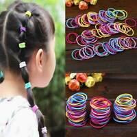 100 Pcs Baby Kids Girl Elastic Hair Bands Ponytail Holder Head Rope Ties Set New