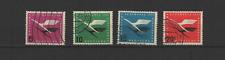 1955 Bundespost ALLEMAGNE  compagnie LUFTHANSA  4 timbres oblitérés /T3295