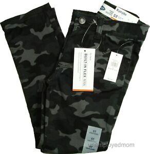 Skinny Jeans Karate Built In Flex Max Camo Print Boys Girls Trousers Unisex Twin