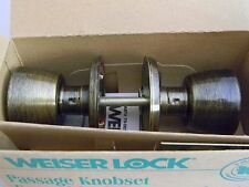 Weiser Passage Knob-  Antique Brass- Weiser Original Old Stock