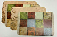 """Set of 4 CounterArt 11.5"""" x 17"""" Reversible Placemats, 6 Designs to Choose From"""