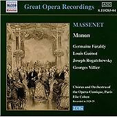 Massenet: Manon [Recorded 1928-29], , Audio CD, New, FREE & FAST Delivery