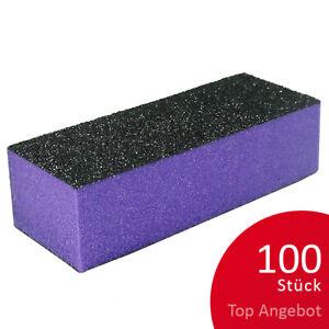 100 Profi Buffer Schleifblöcke lila 60/60/100 Feilblock NailsTOP ANGEBOT
