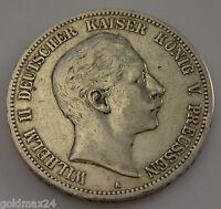 5 Mark Silbermünze Dt. Kaiserreich 1902 A - Wilhelm II. dt. Kaiser v. Preussen.