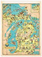 ORIGINAL GAY GEOGRAPHY RUTH TAYLOR PICTORIAL 1935 MICHIGAN DETROIT CLEAN+