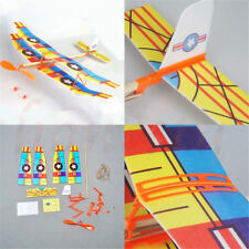 Rubber Band Elastic Powered Glider Flying Plane Airplane DIY Kids Toy Gift