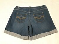 Lane Bryant Size 20 Denim  woman's Shorts  Blue Jean Cuffed .