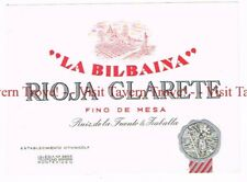 Unused 1930s URUGUAY Montevideo La Bilbaina Roja Clarete Wine Label