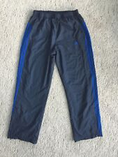 Mens Adidas Clima Proof Wind Exercise Pants Meshlined Blues Eeuc! Large