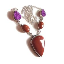 Wholesale !! Gemstone Goldstone .925 Sterling Silver Plated Necklace Jewelry