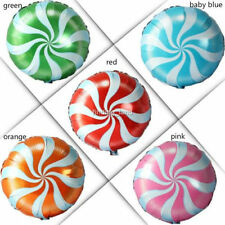 """18"""" SWIRL CANDY Foil Round Candy Lollipop Balloons - Birthday Party Decoration"""