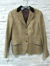 Brooks Brothers Jewel Tone Houndstooth Wool Velvet Collar Riding Jacket Blazer 8