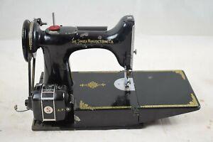 Vintage Singer Portable Electric Sewing Machine Model No.221K1
