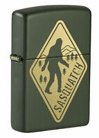 Zippo Sasquatch Design Green Matte Windproof Pocket Lighter, 49246