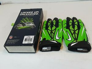 Seattle Seahawks Green NFL Football Elite receiver Gloves XL preowned