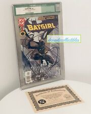 Batgirl #1 CGC Graded 9.2 NM 1st Print DC Comics 2000 Sketch Art & COA 165/1500
