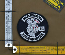 """Ricamata / Embroidered Patch """"Blackwater Afghanistan IC"""" with VELCRO® brand hook"""