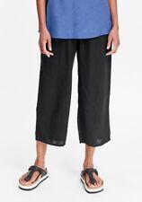 FLAX Designs  LINEN PANTS   2G   NWT   Floods Cropped Pants  BLACK
