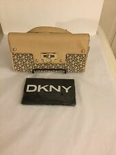 NWT DKNY TOWNE & COUNTRY SAFFIANO LEATHER CHAIN HANDBAG BY DONNA KARAN