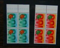 Luxembourg 1974 UPU Universal Postal Union set in block x 4 MNH
