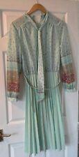 vintage retro tea length dress 1940's / 1950s / 1960's. plus size