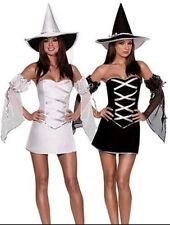 Da Donna Bianco Strega Halloween Horror Fancy Dress Costume Outfit