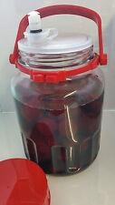 VETRO da 3 LITRI FERMENTAZIONE alimentare Jar. con sterilock antibatterico camera di equilibrio.