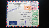 "VERY RARE SAUDI ARABIA 1950 ""ONLY 6 KNOWN"" REGISTERED ""BANK OF LEBANON COVER TO"