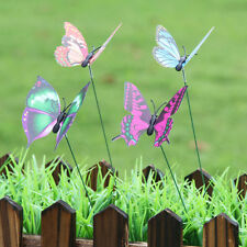 2019 25pcs Butterfly Stakes Outdoor Yard Planter Flower Pot Bed Garden