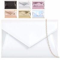 Ladies Metallic Patent Envelope Clutch Bag Evening Bag Party Handbag Purse KZ850
