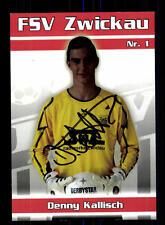 Denny Kallisch Autogrammkarte FSV Zwickau 2010-11 Original Signiert+A 163495