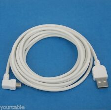 3M Fast Charging ONLY Left Angle Micro USB Cable WHITE for Android phone tablet