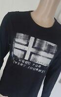 * Napapijri Herren Langarmshirt Shirt schwarz Sweatshirt Pullover Gr. L ***