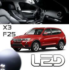 PACK BMW F25 X3 19 Ampoules LED blanc plafonnier Sols Portes Coffre Boîtes gants