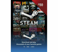 £50 Steam Wallet Card, One Unit for €46, Prepaid Steam Wallet Game Card Code