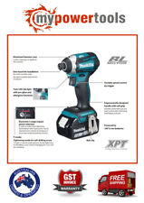 "MAKITA DTD154Z 18V BRUSHLESS 4-MODE 1/4"" IMPACT DRIVER + BL1850B 5.0AH BATTERY"