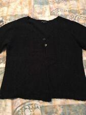 Womens Black *Carolyn Taylor*Cotton Casual Button Cardigan Sweater Sz XL/XLarge