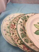 4 - Vintage Mismatched China Dinner Plates Wedding Shower Green Pink  #236