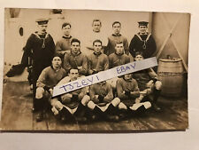 1918 Hms Erin Football Team Photo Rppc