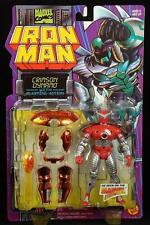 "1996 TOY BIZ MARVEL COMICS IRON MAN BLASTING ACTION CRIMSON DYNAMO 5"" FIGURE MOC"