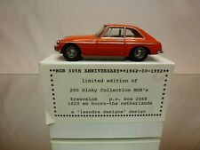 DINKY TOYS DY CODE 3 MODEL PROMO - MGB GT 1965 - 30th ANNIVERSARY 1962 - 1992