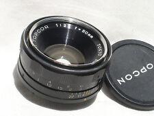 TOPCON  UHI TOPCOR 50mm f 2 lens  Works good!