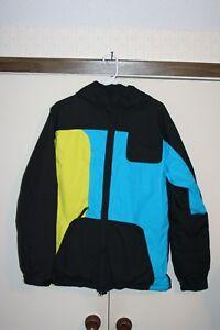 686 Infidry 5000 MM GM Ski Snowboard Jacket Men Small Multi Neon Black Racing