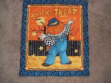"HALLOWEEN  TABLE  QUILT 26"" x 23"" TWO DIFFERENT SIDES"