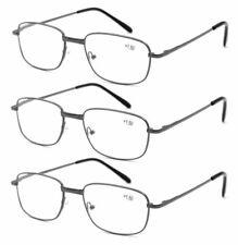 3-Pack Reading Glasses Unisex Metal Spring Hinges Eyeglasses 1.0~3.5 NFA0063
